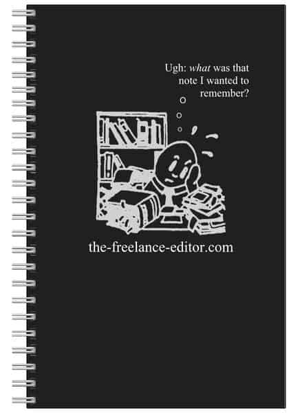 lined notebook with logo