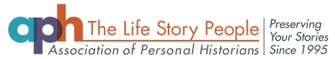 logo for the Association of Personal Historians (APH), which existed from 1995 to 2017