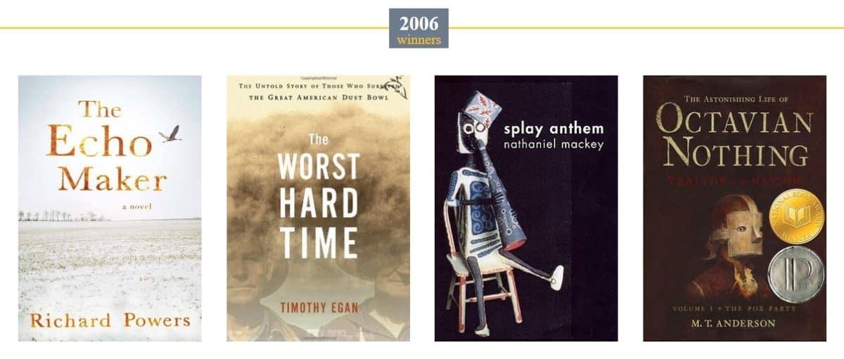 National Book Award Winners for 2006