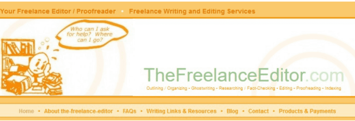 This was the-freelance-editor banner section from sometime in 2006 to about 2012.