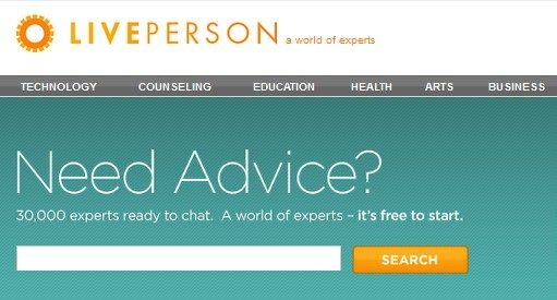 Part of the LivePerson website banner; LivePerson has been innovating conversational connections between brands and consumers since 1995, with the invention of live chat on websites.